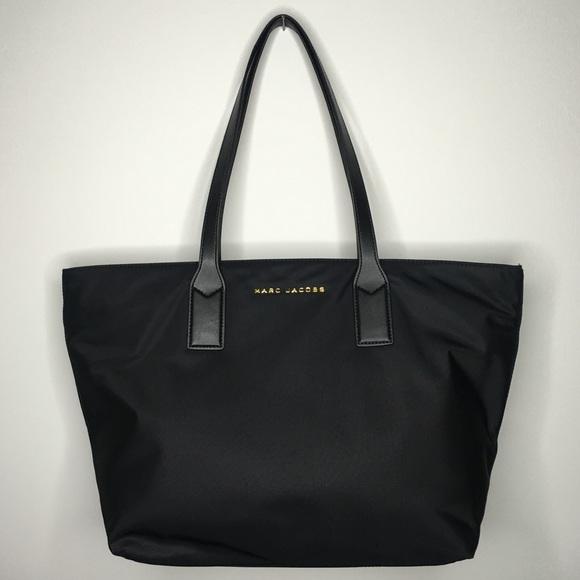 fca3b2812277 NWT Marc Jacobs Luxe Black Nylon Wingman Tote Bag